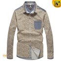 Pure Cotton Long Sleeve Shirts for Men CW114706