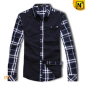 Mens Plaid Long Sleeve Shirts CW130039