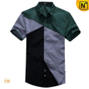 Mens Original Matching Design Short Sleeve Shirts CW100321 - cwmalls.com