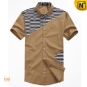 Mens Original Designer Slim Fit Shirts Short Sleeve CW100325 - cwmalls.com