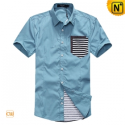 Mens Original Design Slim Fit Shirts Short Sleeve CW100328 - cwmalls.com