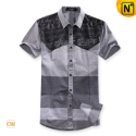 Mens Fashion Designer Matching Short Sleeve Shirts CW100309 - cwmalls.com