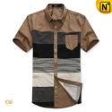 Mens Designer Original Slim Short Sleeve Shirts CW100316 - cwmalls.com
