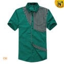Mens Fashion Designer Matching Short Sleeve Shirts CW100312 - cwmalls.com