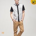 Designer Mens Short Sleeve Shirts CW100319