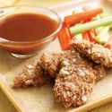 Almond-Crusted Pork with Honey-Mustard Dipping Sauce