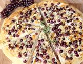 Champagne Grape Pizza with Pine Nuts