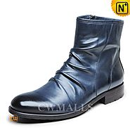 CWMALLS® Mens Side Zip Ankle Boots CW726505