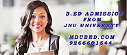 B.Ed from Jodhpur National University | Jodhpur National University B.Ed Eligibility