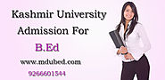 B.Ed Admission 2015-16| Jammu and Kashmir University