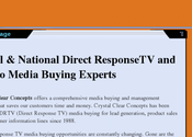 Direct ResponseTV and Radio Media Buying | Crystal Clear Concepts