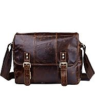 Cwmalls Mens Medium Leather Briefcase Bag CW950702
