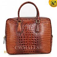 CWMALLS® Kansas City Croc-Embossed Briefcase CW907126