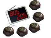 AMAZON - SINGCALL.Call Beeper, Calling System for a Restaurant or Bar of 5 Tables.Pack of 5 pcs Table Buzzer and 1 pc...