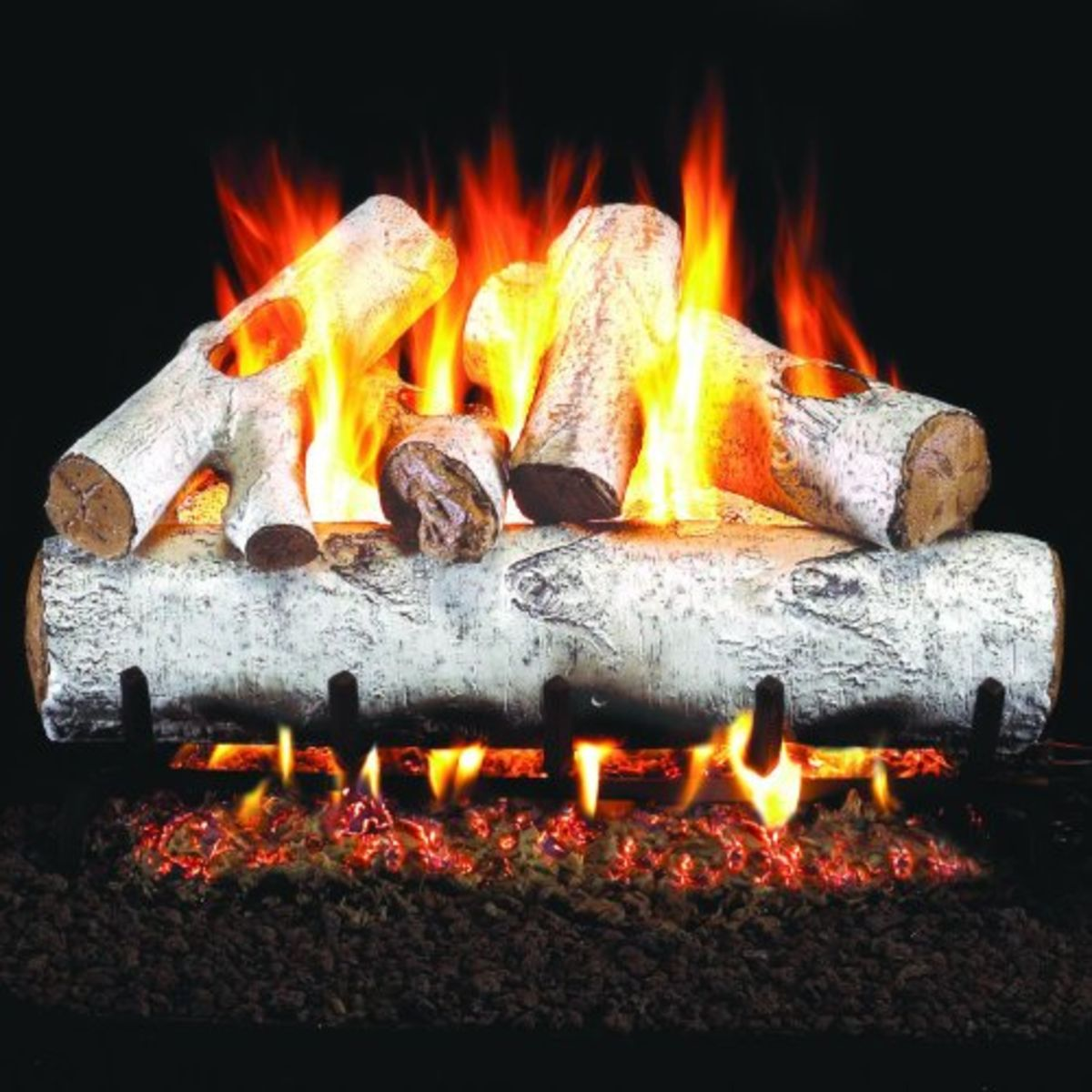 Headline for Gas Fireplace Logs - Birch