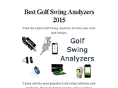 Best Golf Swing Analyzers 2015