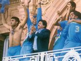Dada gives a fitting reply to Flintoff after India beat England at Lord's in the Natwest final.