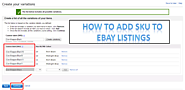 How to add SKU to eBay listings