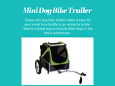 Mini Dog Bike Trailer