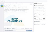 City of Roanoke Virginia 2014 Facebook Snow Event
