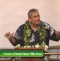 "Maui City Council - Inauguration speech on ""shaka, smile and aloha"""
