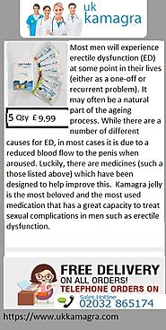 Kamagra jelly new generation drug for erection restoration ED