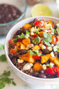 Vegetarian Sweet Potato & Black Bean Burrito Bowl