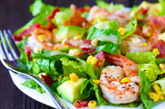 Shrimp, Avocado & Roasted Corn Salad