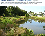 Hillsborough County, Florida 2014 Adopt-A-Pond Fan Favorite Pond Competition