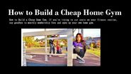 How to Build a Cheap Home Gym