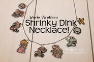 Doodlecraft: Super Mario Brothers Shrinky Dink Necklace for Video Games Day!