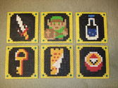Legend of Zelda Beverage Coasters (Pearler Beads)