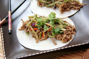 General Tso's Slow Cooker Pork Tacos & Orange Broccoli Slaw Recipe - Snappy Gourmet