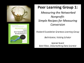 2 -Packard Foundation Peer Learning Group