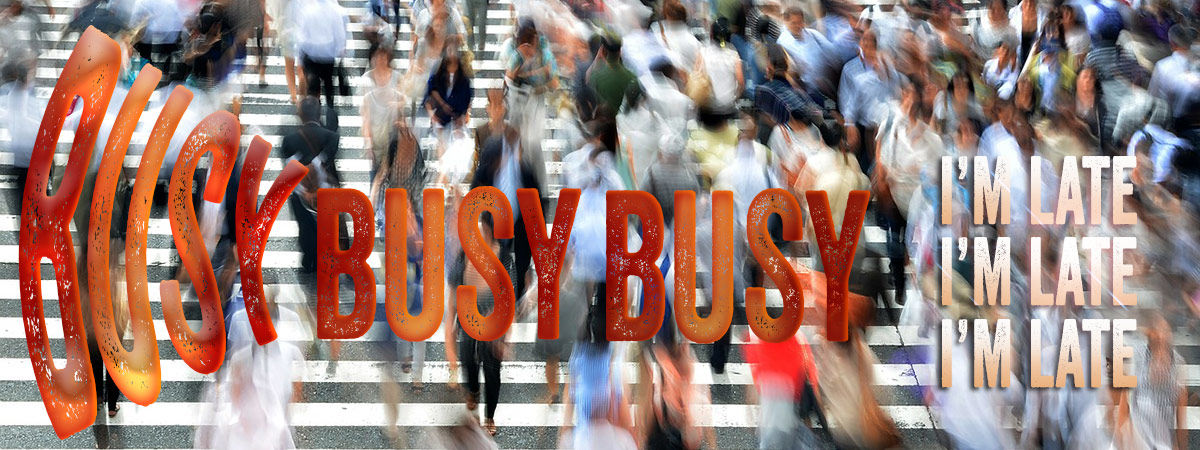 Headline for 10 Looks At Being Too Busy