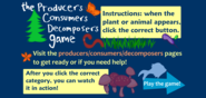 Producers, Consumers, Decomposers Game
