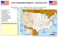 U.S.A. Geographical Regions - Learning