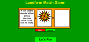 Landform Match Game