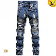 CWMALLS® Washed Denim Ripped Jeans CW106135