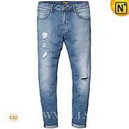 CWMALLS® Men's Skinny Ripped Jeans CW107020