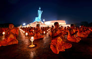 100,000 monks in prayer for 'a better world'.