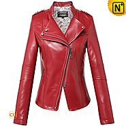 CWMALLS® Women's Leather Moto Jackets CW607020