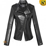 CWMALLS® Designer Fitted Leather Jacket CW607021