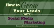 How to Grow Your Leads With Social Media Marketing