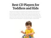 Best CD Players for Toddlers and Kids