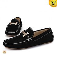 Cwmalls Mens Leather Driving Shoes Loafers CW713125