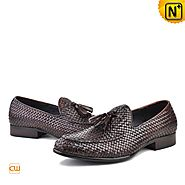 Mens Brown Dress Loafers CW750058 - cwmalls.com