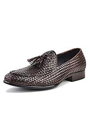 Mens Tassel Woven Dress Shoes