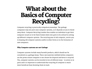 Computer Recycling London, Computer Recycling UK