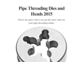 Pipe Threading Dies and Heads 2015